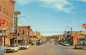 Lusk Wyoming~Business Section Street Scene~Ranger Hotel~Classic Cars Parked~'60s