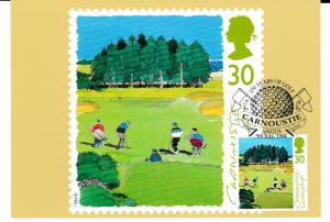 Post Card  30p stamp issued 5 July 1994  depicting Golf  Carnoustie : Luckyslap