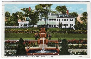 Augusta, Maine, Residence Of Percy V. Hill, Looking East