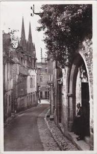France Quimper Rue du Lycee Real Photo