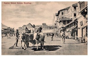 India, Bombay, Native Street Scene