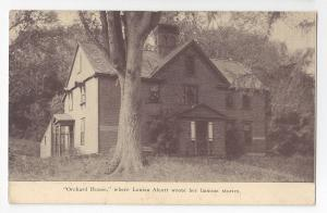 Concord MA Orchard House Residence of Louisa May Alcott Vintage Postcard