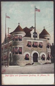 Post Office,St Albans,VT Postcard