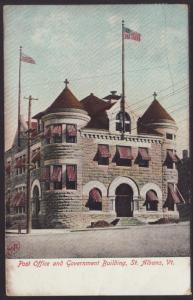 Post Office,St Albans,VT Postcard