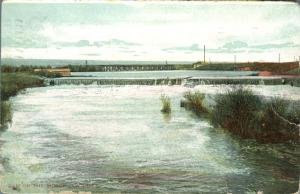 Dam on Moose Jaw River - Moose Jaw SK, Saskatchewan, Canada - pm 1909 - DB