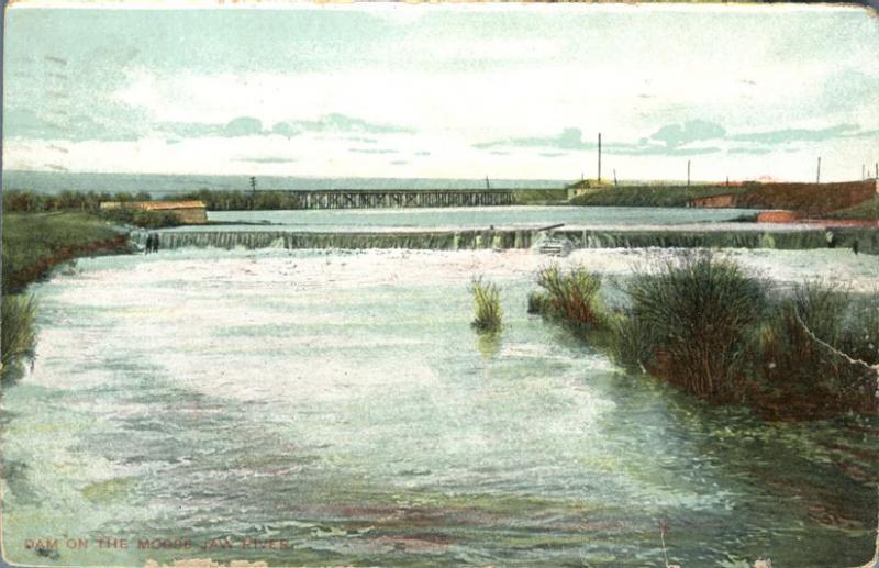 Dam on Moose Jaw River - Moose Jaw SK, Saskatchewan, Canada - pm 1909 - DB