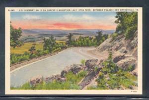 Virginia postcard US Hwy 11 Drapers Mtn Pulaski