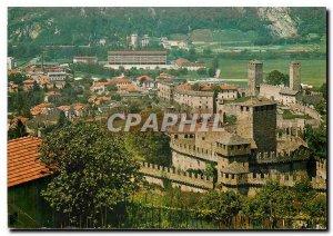 Modern Postcard Bellinzona Caserma e Castelli