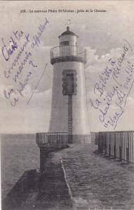 Lighthouse, Le Nouveau Phare St. Nicolas- Jetee De La Chaume, France, 1900-1910s