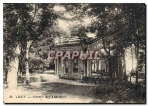 Postcard Old Vichy Source of Celestins