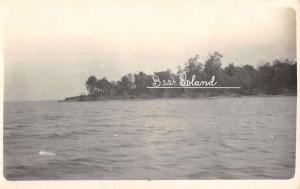 Bear Island New Hampshire ? Waterfront Real Photo Antique Postcard K40015