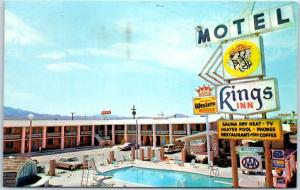 Kingman, Arizona Postcard KING'S INN MOTEL Highway Route 66 Roadside 1975 Cancel