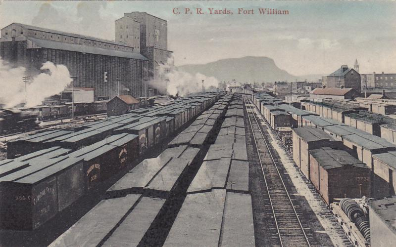 FORT WILLIAM , Ontario , Canada , PU-1908; C.P. Railroad Train Yards