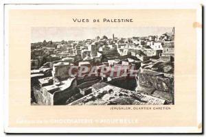 Old Postcard Views of Palestine Jerusalem Ouartier Chretien