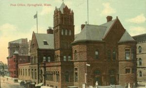 Post Office, Springfield, Mass early 1900s unused Postcard