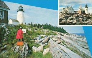Postcard Pemaquid Light Maine