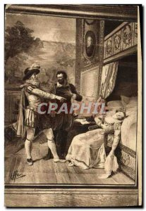 Old Postcard Tapestry Pau Du Chateau Fainting Gabrielle d Esthee