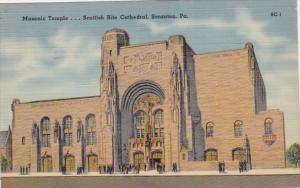 Pennsylvania Scranton Masonic Temple Scottish Rite Cathedral 1943