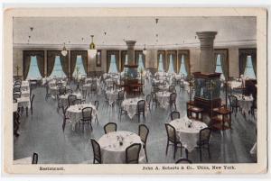 Restaurant, John A Roberts Co. Utica NY