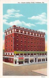 Georgia Ga Postcard Linen VALDOSTA Daniel Ashley Hotel Soda Shop Drug Store