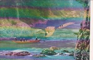 Japan Kyoto Rafting On Hozu River Shooting The Hozu Rapids