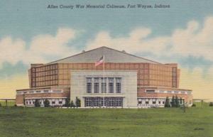 Indiana Fort Wayne Allen County War Memorial Coliseum Curteich