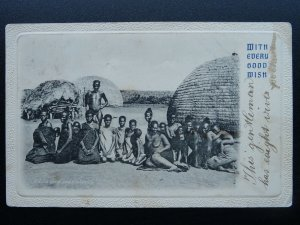 South Africa A ZULU CHEF & HIS FAMILY c1907 UB Postcard by S.E.C.D.