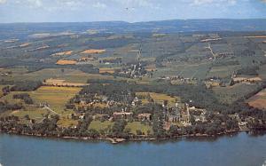 Keuka Park College NY Birdseye View Before Norton Chapel Was Built 1959 Postcard