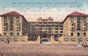 Hotel Virginia, LONG BEACH, California, on Line of Southern Pacific, PU-1912