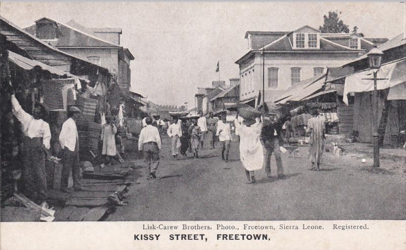 Kissy Street, Walking Scene, FREETOWN, Sierra Leone, Africa, 1900-1910s