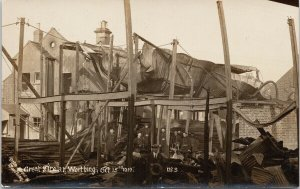 1919 Great Fire Worthing Sussex England Otto Brown RPPC Postcard F97