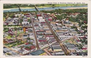 Arkansas Fort Smith Aerial View Of Business District Curteich