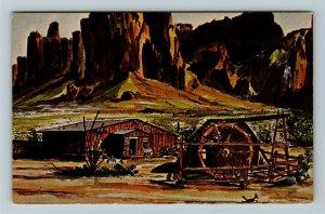 Apache Junction AZ- Arizona, Mining Camp Restaurant, Advertising Chrome Postcard