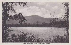 Connecticut Twin Lakes Background Bear Mountain Albertype