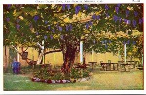 California San Gabriel Mission Founded 1771 Giant Grape Vine