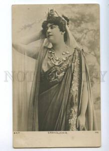 174464 GRANDJEAIR French OPERA star singer Vintage PHOTO PC