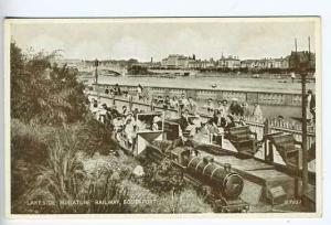 Southport Lakeside UK Miniature Train  Postcard