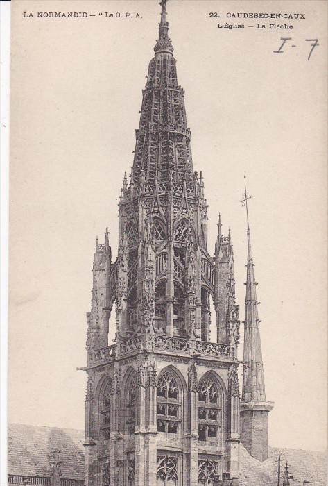 La Normandie, Caudebec en Caux, L'Eglise, La Fleche, France, 00-10s