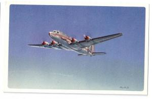 American Airlines Flagship in Flight Airplane Vntg Aviation Postcard Ivan Dmitri