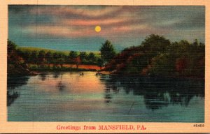 Pennsylvania Greetings From Mansfield