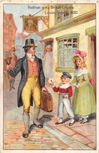 Postmen of the British Empire: London Postman 1820 Pictorial Postcard