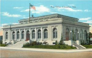 Columbus Nebraska~Post Office~Double Entrance~Terraced Steps 1920s