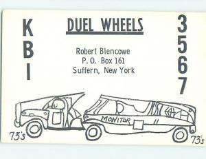Comic - QSL HAM RADIO CARD Suffern New York New York NY j6258