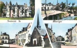Postcard France Chateau de Ronceray Marigne Sarthe