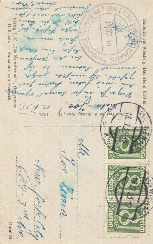 RP ; AUSTRIA, 1925 : Bauhutte am Wiesberg (Dachstein)