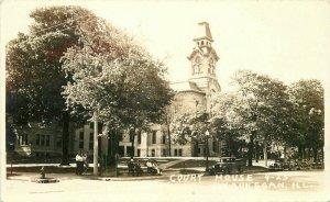 Automobiles Court House Waukegan Illinois RPPC Photo Postcard Vogel 20-506