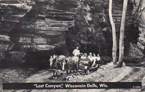 Horse and Canyon Lost Canyon Wisconsin Dells Wisconsin Real Photo