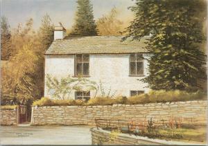 'Dove Cottage Grasmere'  Edwin Blackburn Art Signed UNUSED Repro Postcard D92