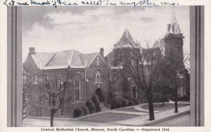 Exterior,  Central Methodist Church,  Monroe,  North Carolina,    PU_40-60s