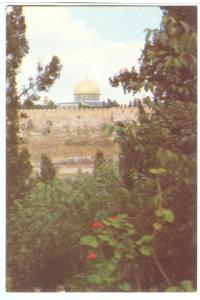 Jerusalem, Partial View, 1980s unused Postcard